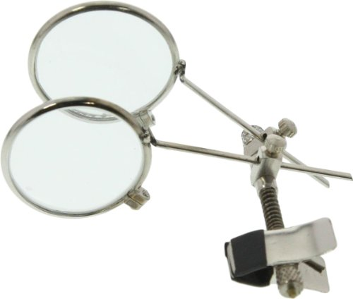 Clip-On Double Glass Eye Loupe 7.5X-7.5X