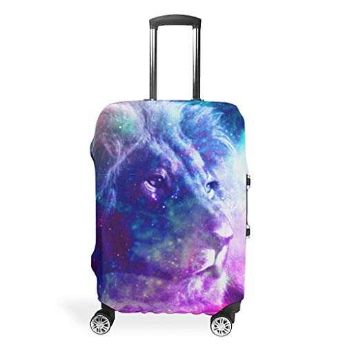 Tiger Lion Animal-Mirror Travel Luggage Cover Foldable Anti-Scratch Fits 18-32 Inch for Wheeled Suitcase Over Softsided White 26-28in