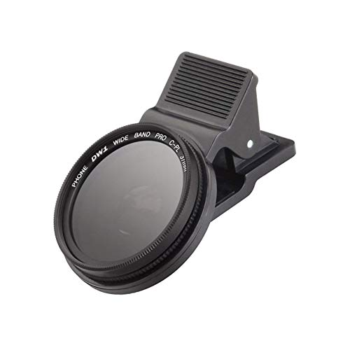 Fengshengli Handy-Kameraobjektiv, 37 mm, Zirkular-Polarisationsfilter mit Objektivclip für iPhone, Samsung, Huawei, etc.