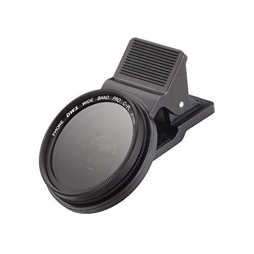 ALEOHALTER Lente de cámara externa de 37 mm, lente de cámara de teléfono CPL portátil, polarizador circular universal, compatible con smartphones