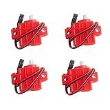 4個のプログラマブルオタクサーボモーター micro:bit Robotbit スマートカー レゴ適用 (4個赤い)