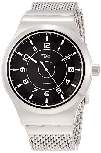 Swatch Orologio Analogueico Automatico Uomo con Cinturino in Acciaio Inox YIS418MA