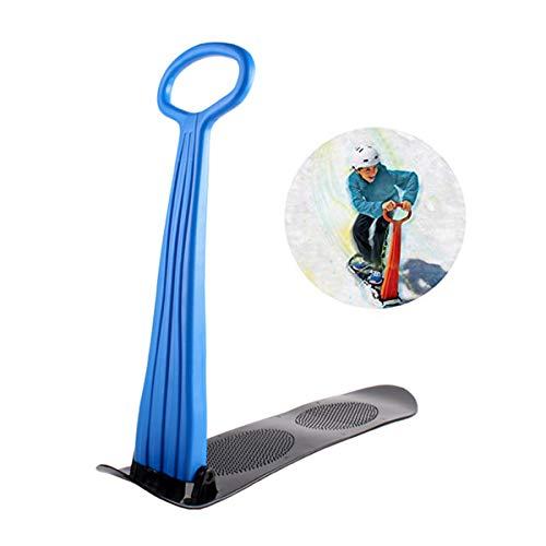 Qinsir Slittino in Plastica,Slittino per Bambini Slittino da Neve Monopattino per Bambini Neve Slittino Sport Invernali Sci Alpino Toys Sport E Tempo Libero,Blu