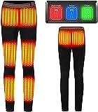 joyvio Pantalón calefactable USB 5V / 2A Recargable, pantalón calefactable eléctrico para Invierno al Aire Libre, pantalón calefactable con 5 Zonas calefactoras, 40-85Kg (batería no incluida)
