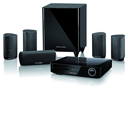 Harman Kardon BDS 685S Heimkino-System 5.1-Kanal, 525 Watt, 4K Blu-Ray Disc-System mit Spotify Connect, Airplay und Bluetooth-Technologie - Schwarz