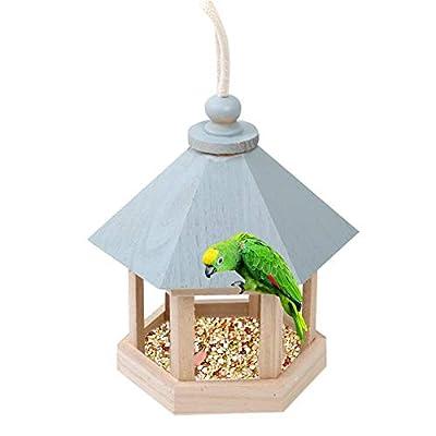 Bird Feeder House For Outside Bird House,Log Robin Nest Box Bird Home Birdhouse, Parakeet, Sparrows' Eco-friendly Feeder, Natural Wooden Birdhouse With Feeders For Wild Birds, Finch, Cardinal by TARTIERY