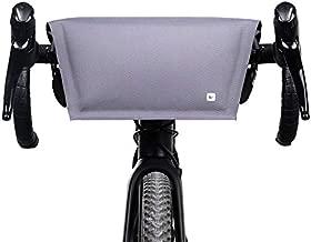 Rhinowalk Bike Handlebar Bag Waterproof 4L Bicycle Front Bag Handbag Shoulder Bag for Cycling Commuting Traveling, Grey