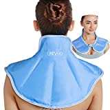 REVIX Ice Pack for Neck and Shoulders Upper Back Pain Relief, Large Neck Ice Pack Wrap with Soft Plush Lining, Reusable Gel Cold Compress for Rotator Cuff Injuries, Swelling, Surgery Recover