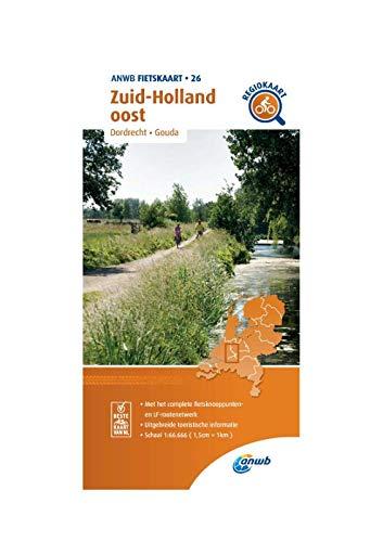 Fietskaart Zuid-Holland oost 1:66.666: Dordrecht, Gouda