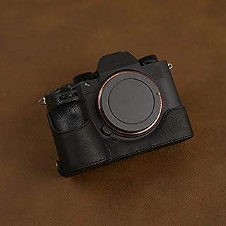 Gotor® トップ 本革 A73 A7R3 A7M3 A7RIII A7III A9 ミラーレス一眼カメラ 対応交換用 プロテクト カメラケース カバー (ブラック)