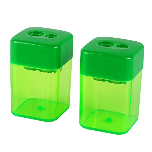 Eagle Manual Pencil Sharpener, 2 Holes, for Standard and Jumbo Color Pencils, Perfect for Kids, Pack of 2