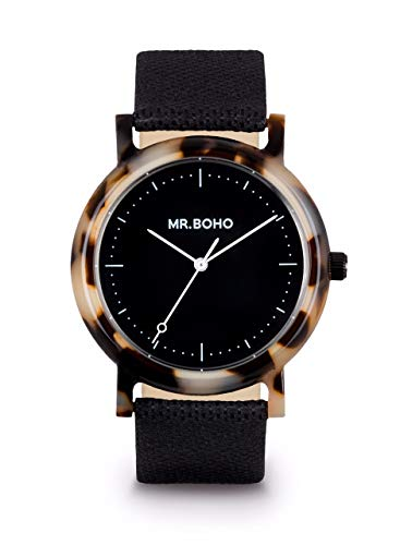 Reloj MR BOHO 00728962 38 MM Correa Negra Carey Negro