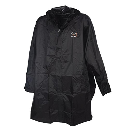 Element terre - Pelerin noir poncho - Poncho cape de pluie - Noir - Taille L/XL