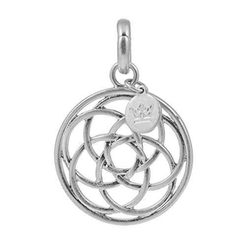 Sence P243 Charm Viking Knot Worn Silver