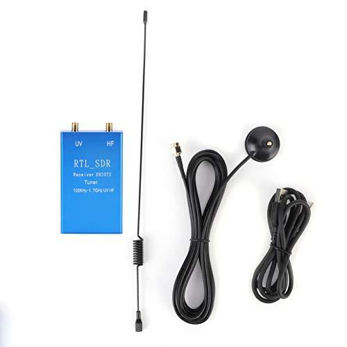 minifinker Receptor de Radio, Kit de Receptor Larga Vida útil Durable con Antena y Cable USB para Radio RTL2832U + R820T2 100 KHz-1,7 GHz para Radio RTL2832U + R820T2