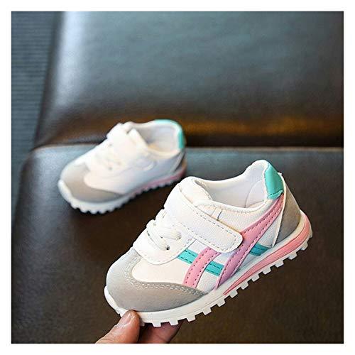 Youpin Zapatos de bebé para niños, zapatos deportivos para niños, niñas y bebés, zapatillas de deporte a la moda, casual, zapatos suaves (color: rosa, tamaño del zapato: 28 (plantilla de 17,2 cm)