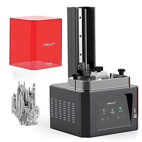 Victool Stampante 3D, Creality HALOT ONE Resin, lampada UV SLA LCD, stampante 3D con sorgente luminosa integrata 2K, volume di costruzione 127 x 80 x 160 mm, Wi-Fi integrato