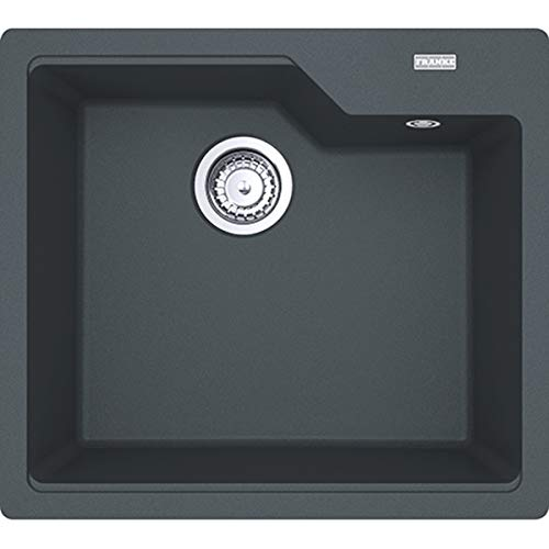 FRANKE Kitchen Sink Made of Granite (Fragranite) with a Single Bowl Urban UBG 610-56-graphite 114.0575.029, Graphite