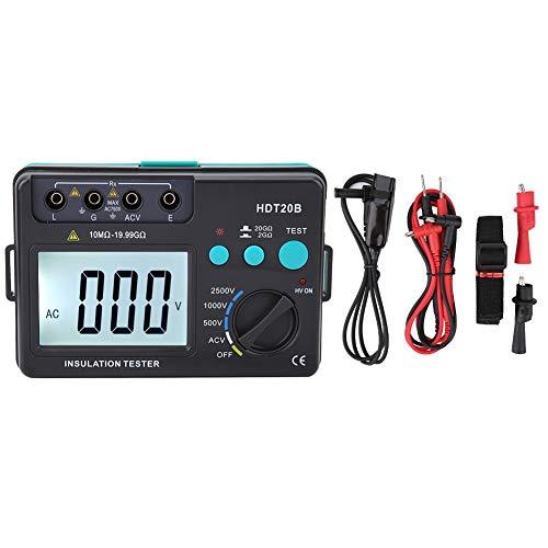 500V~ 2500V Isolationmessgerät/Prüfer Megohmmeter, HDT20B Hohe Genauigkeit LCD Digital Isolationswiderstand Tester Auto Range, 10MΩ~19.99GΩ
