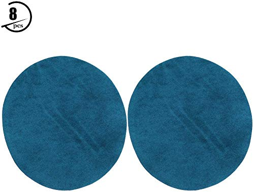 HEEPDD 8 STKS Elleboog Knie Patches, Kleding Ronde Knie Elleboog Doek Sticker Geborduurde Badge DIY Kleding Naaien Reparatie Decoratieve Stickers voor pak Jas Sweater
