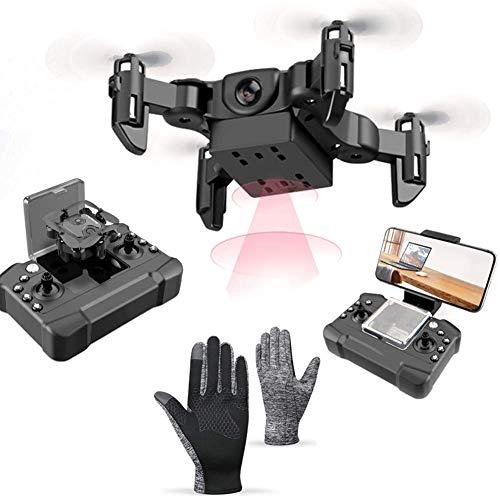 QIXIAOCYB RC. Quadcopter Pieghevole del Drone con Funzionamento Automatico della connessione Mobile del Mobile 360 ° Che Gira 3 Regolazione della velocità e 5 Giocattoli delle batterie Extra for Le