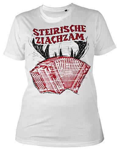 Trachten-Shirt Frauen T-Shirt Steirische Ziachzam Tracht Trachtenshirt Trachtenmotiv zur Lederhose Heimat Landliebe