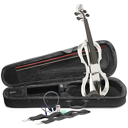 Stagg EVN X-4/4Wh tamaño completo violín eléctrico–Blanco
