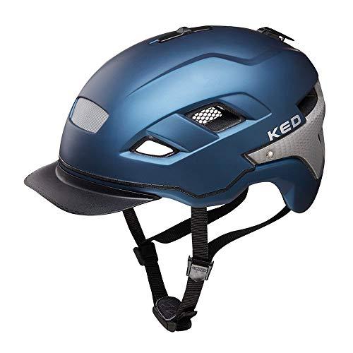 KED Berlin M Nightblue matt - 52-58 cm - inkl. RennMaxe Sicherheitsband - Fahrradhelm Skaterhelm MTB BMX Erwachsene Jugendliche