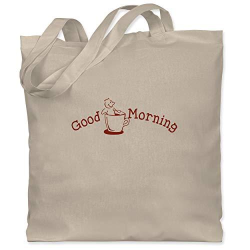 Shirtracer Küche - Good Morning - Unisize - Naturweiß - Geschenk - WM101 - Stoffbeutel aus Baumwolle Jutebeutel lange Henkel
