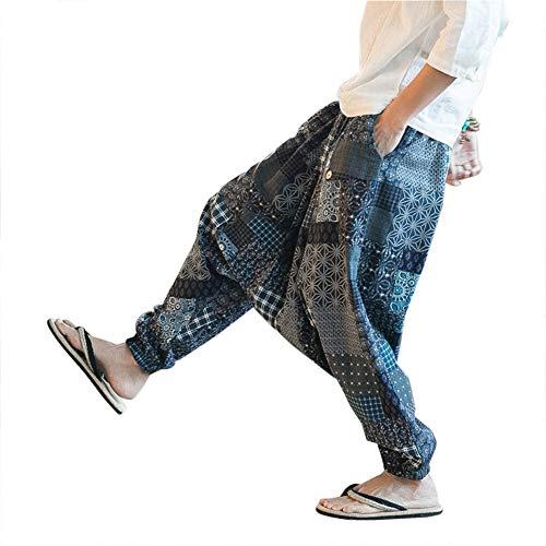 Haremshose Herren Damen Aladinhose Alternative Kleidung Pumphose Shalwar Hose Aladinhose Goa Hose,S,