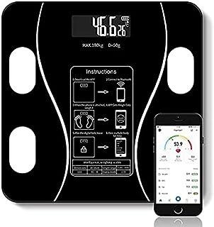 Escala de Grasa Corporal, BONACHAN Báscula de Peso Digital, Analizador de Composición Corporal Inteligente de BMI Intelige...
