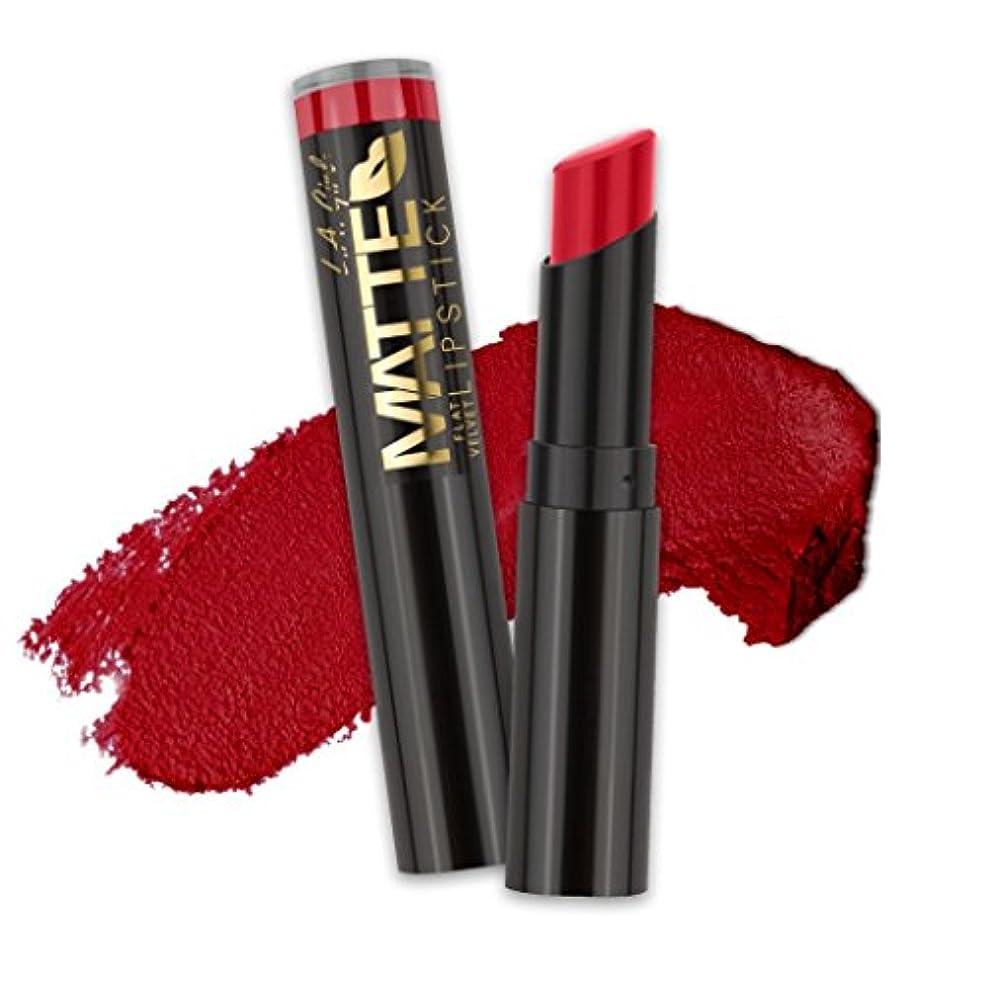 誕生日ブルームパドル(6 Pack) L.A. GIRL Matte Flat Velvet Lipstick - Relentless (並行輸入品)