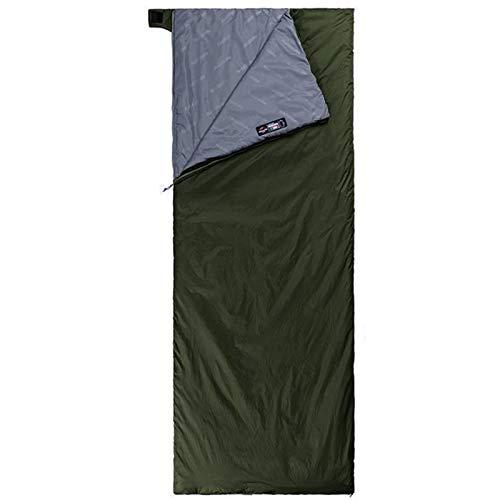 Yarrashop 封筒型 シュラフ 寝袋 軽量 キャンプ コンパクト アウトドア用 使用温度約8-22度 グリーン