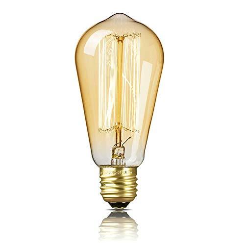 MantoLite E27 T64 Edison Vintage Glühbirne 40W 220-230V Dimmbare Lichtquelle Warmweiß Retro Dekorative Glühbirne Antike Glühlampe Ideal für Nostalgie und Retro Beleuchtung im Haus Café Bar