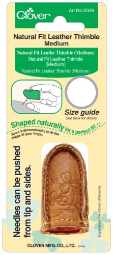 Cheapest Prices! Clover Medium Natural Fit Leather Thimble (2 Pack)