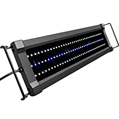 The 2nd generation of the ClassicLED aquarium light, more LEDs and 50% brighter With inline LED controller, white and blue LEDs can be operated together or independently, allow you to adjust the light intensity and spectrum for your tank Adjustable m...