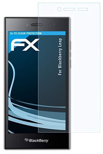 atFolix Schutzfolie kompatibel mit BlackBerry Leap Folie, ultraklare FX Bildschirmschutzfolie (3X)
