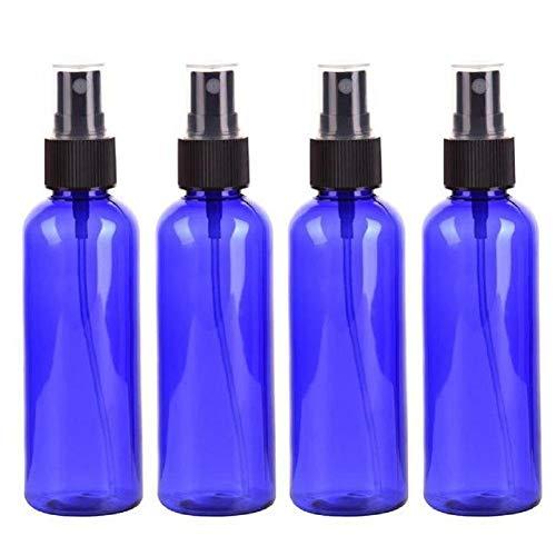 Quentin Lot de 4 flacons de voyage pour produits de toilette, conteneur de voyage, distributeur pour cosmétiques liquides (bleu, sans BPA)