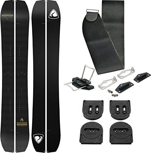 Pathron Snowboard Splitboard Carbon Gold Split 2020 inkl. Clips und Hooks + Voile Set + Felle (165cm)
