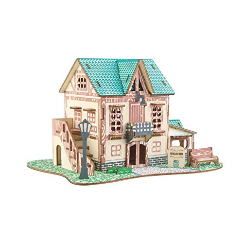 3D Puzzles Model Mechanical Models Building Kits For Adults 3D Diy-Puzzel Vliegtuig Model Cartoon House Assembleren Paper Toy Kid Early Learning Construction Pattern Gift Children House Puzzle-Zoals D