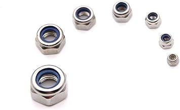 Multifunctioneel M3 - M8 Hexagon dunne noten met niet-metalen inzetstuk 304 roestvrijstalen nylon slot voor Schroeven: (Co...