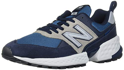 New Balance Men's Fresh Foam 574 Sport V2 Sneaker, Eclipse/NB Light Blue, 15 D US