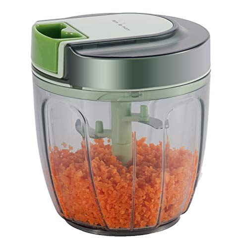 Smile Mom Powerful Manual Food Chopper 5 Blades Vegetable Food Blender Processor-900 ML
