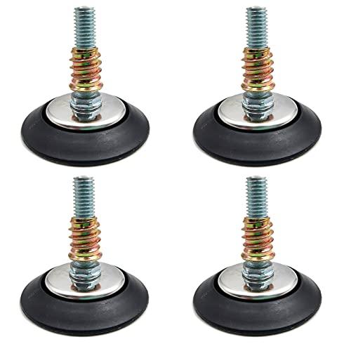 Niveladores de muebles ajustables de 4 piezas para mesas sillas gabinetes – 3/8'-16 hilos