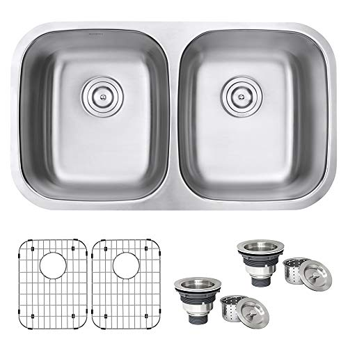 Double Stainless Steel Kitchen Sink With Counter