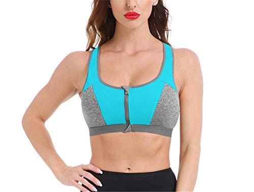 Sportbeha's Yoga Shirt Dames Fitness Running Vest Ondergoed Schokbestendig Voorgevormde BH Sporttop Sportkleding Push-up beha