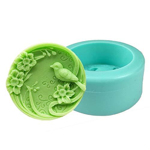Myya 3D Bird Silicone Soap Molds Candle Molds Peonies Clay Mould Cake Decorating Silicone Mold