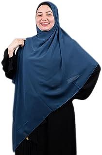 خمار ماليزي- شيفون كريب - لون أزرق كحلي - جودة عالية - Malaysian Khimar