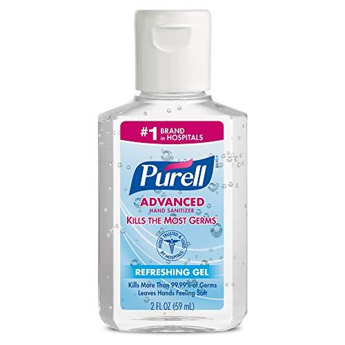 PURELL Advanced Hand Sanitizer Refreshing Gel, Clean Scent, 2 fl oz Portable Flip Cap Bottle (Pack of 24) - 9605-24