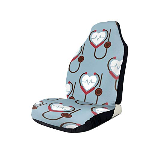 Drew Tours Heartbeat Universal Car Seat Covers Front Seats Protectors for Car,Truck And SUV